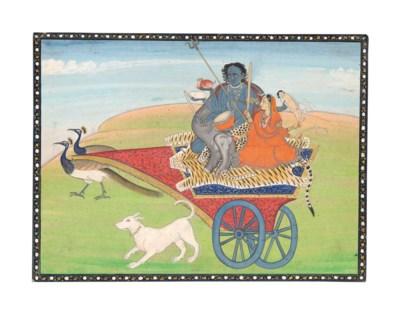 SHIVA AS KALA BHAIRAVA WITH VA