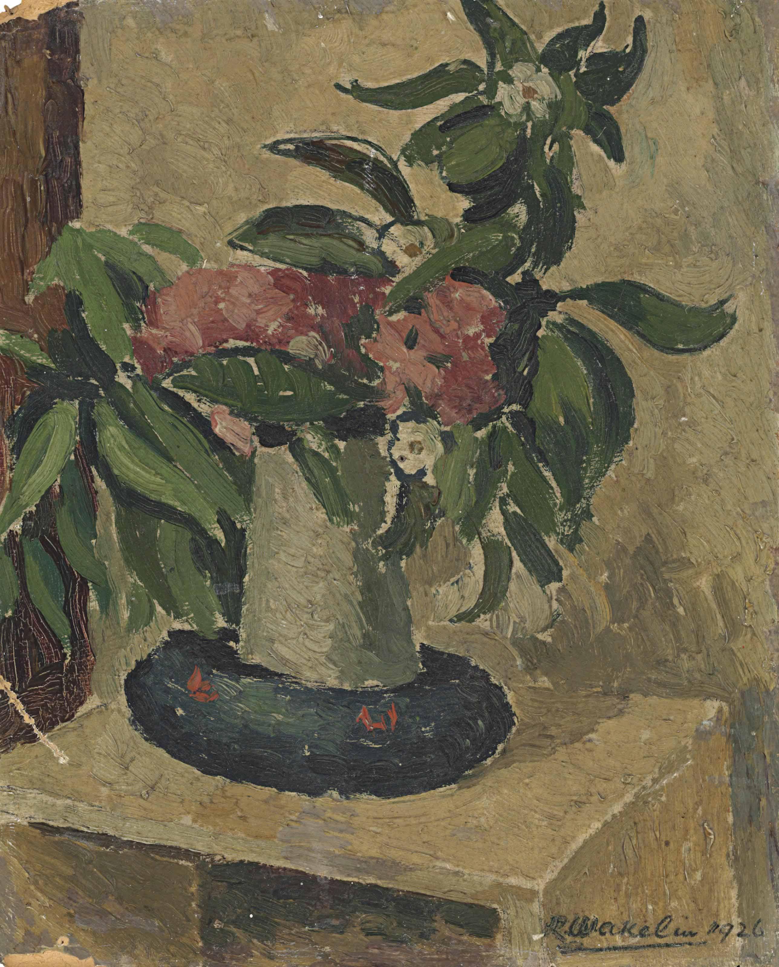Still Life; Peonies in a vase