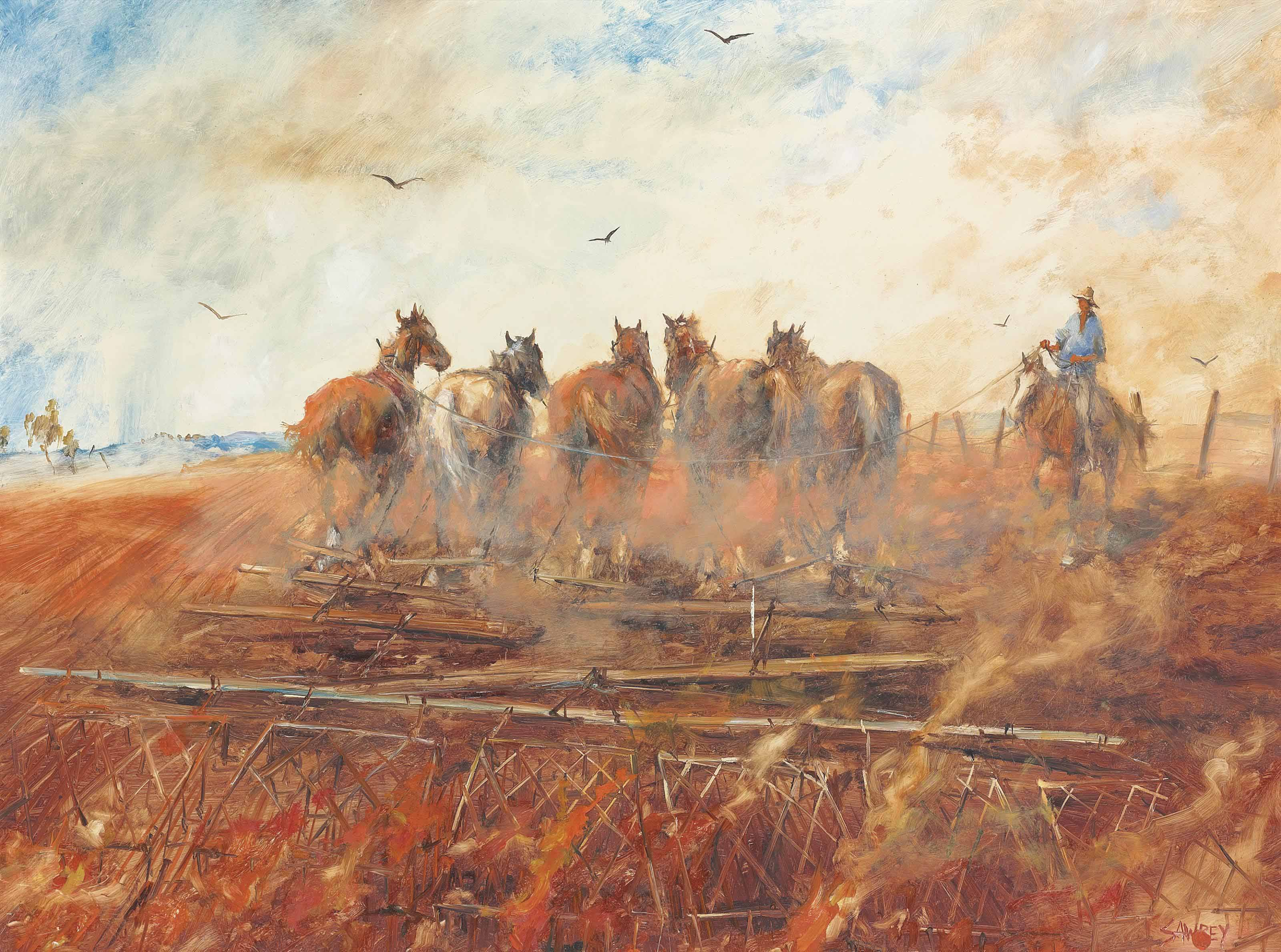 The Fire Harrowing Team, Queensland