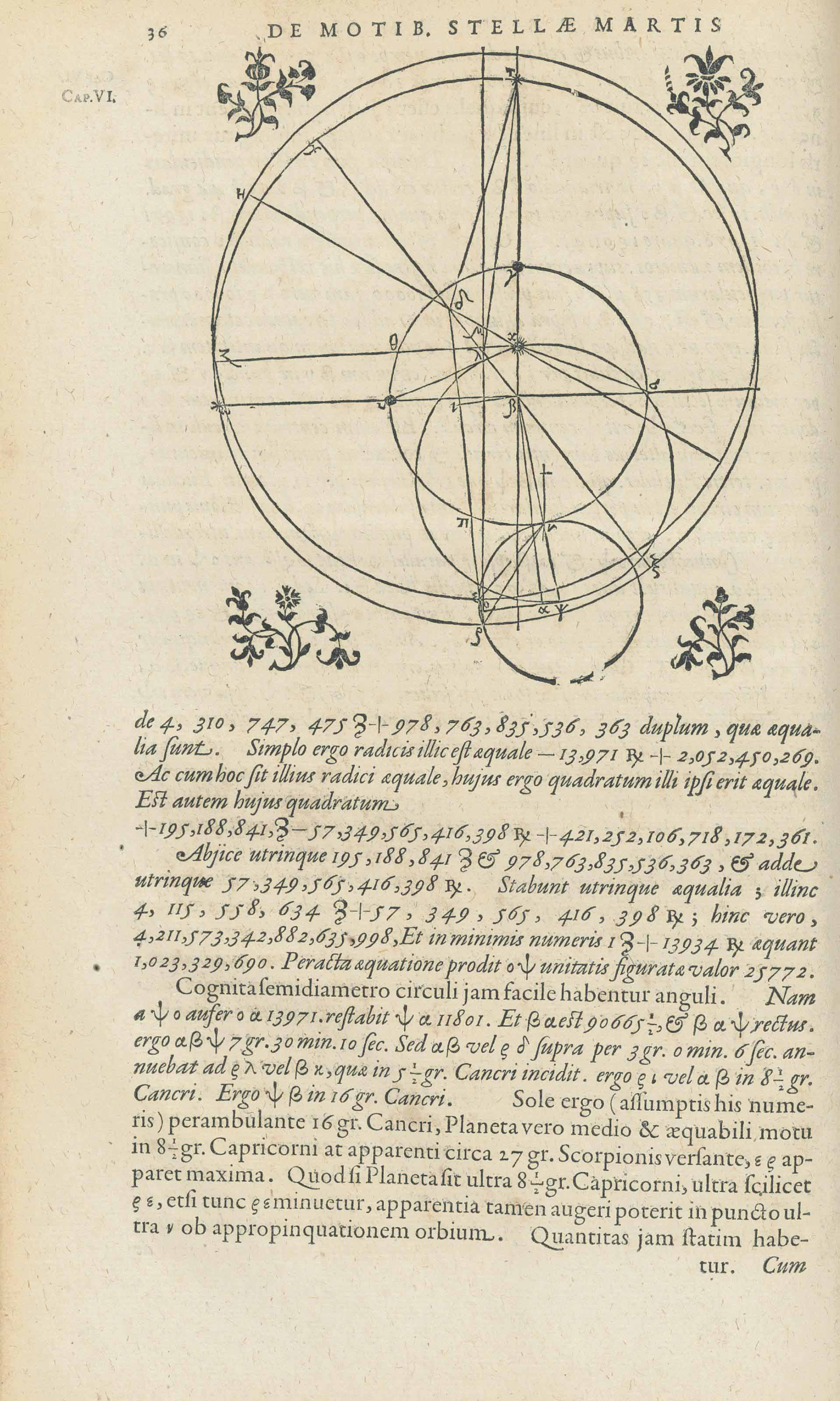 KEPLER, Johannes. Astronomia nova, seu physica coelestis, tradita commentariis de motibus stellae Martis, ex observationibus G.V. Tychonis Brahe. [Heidelberg: E. Vögelin,] 1609.