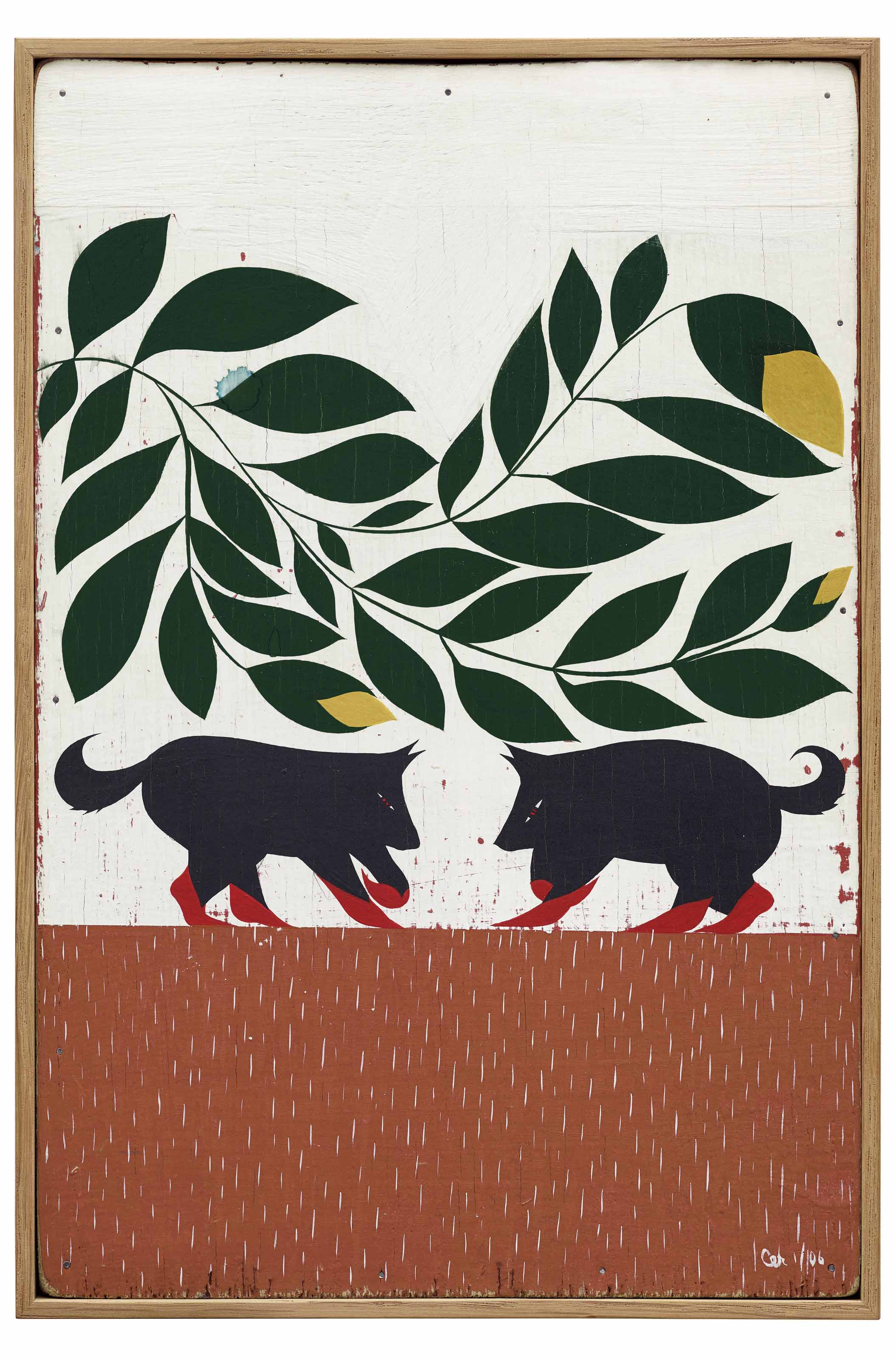 Untitled (Two Black Animals)