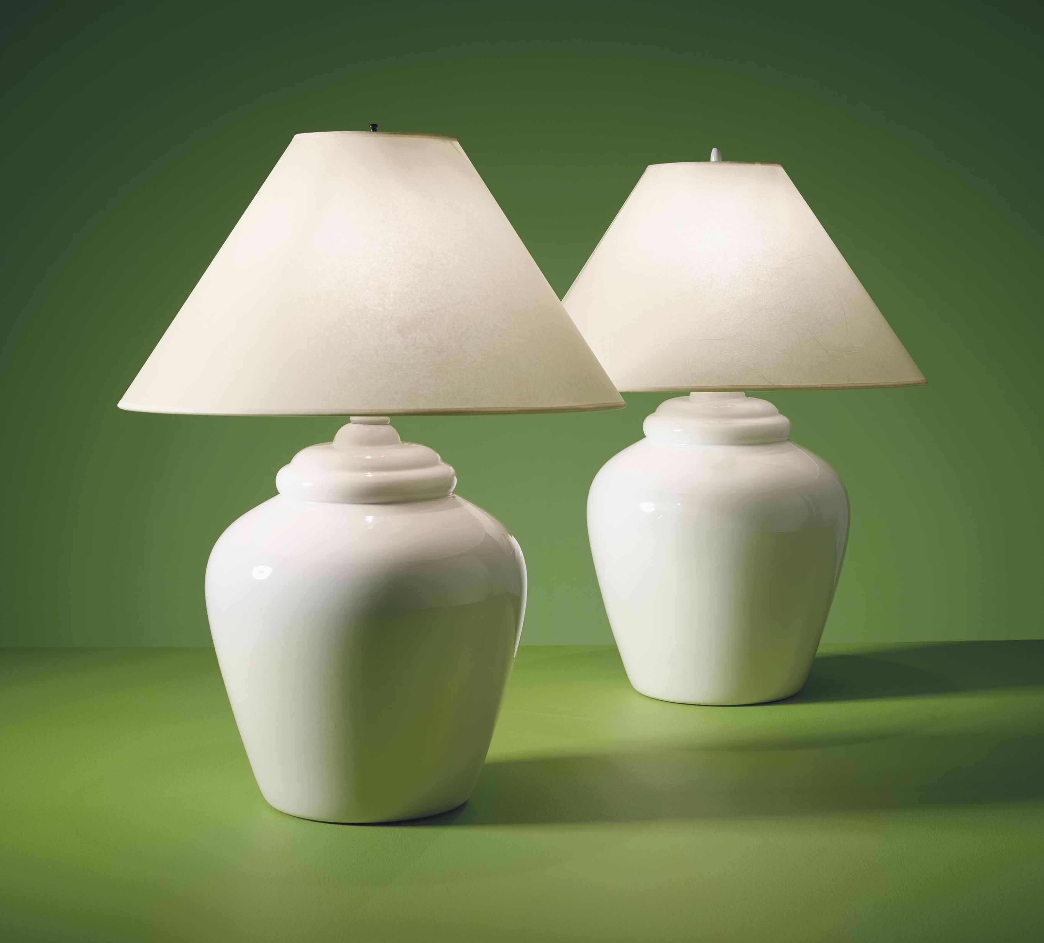 Royal Haeger Est 1871 A Pair Of Table Lamps 20th Century All