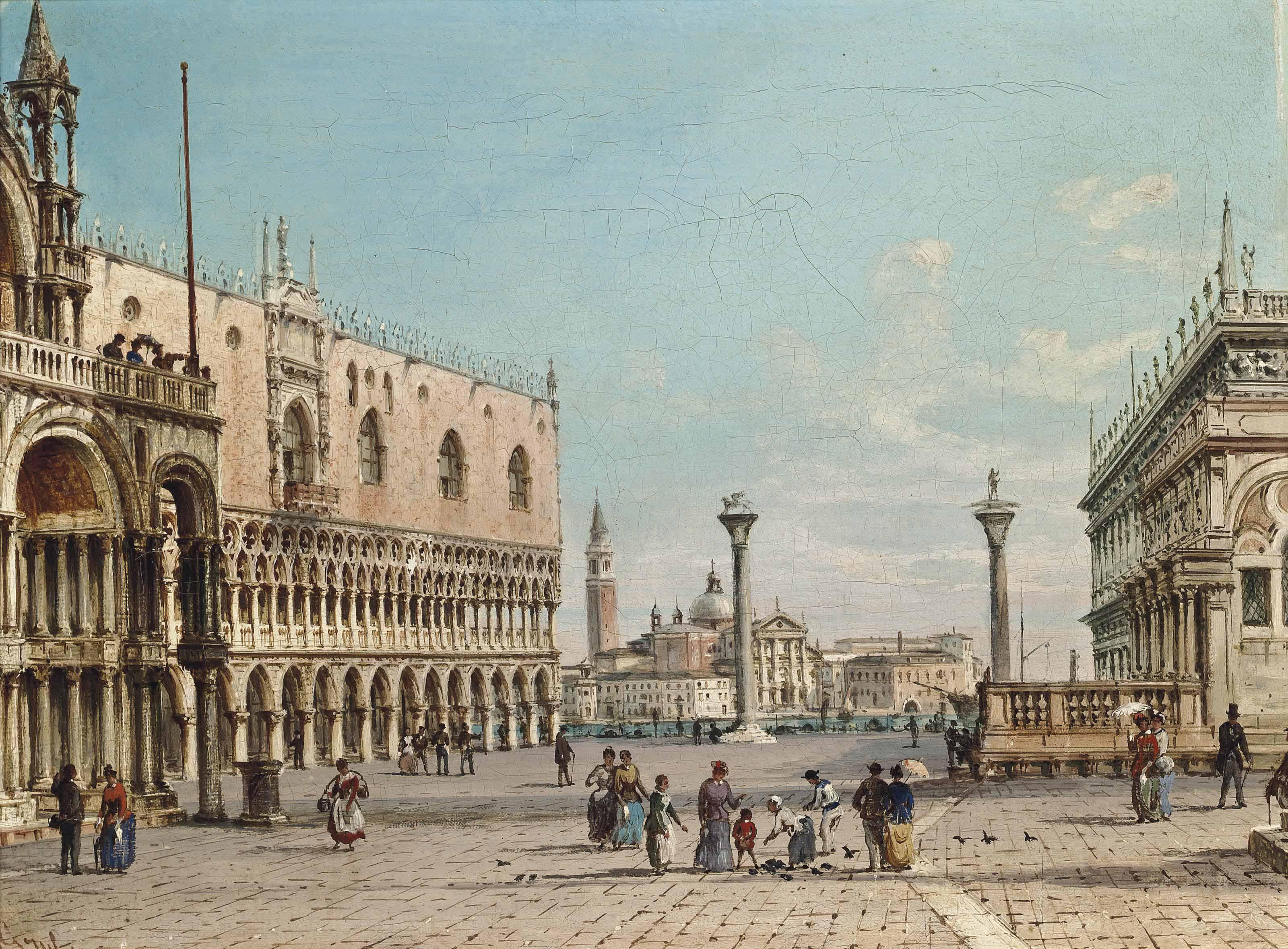 St Mark's Square looking towards San Giorgio Maggiore, Venice