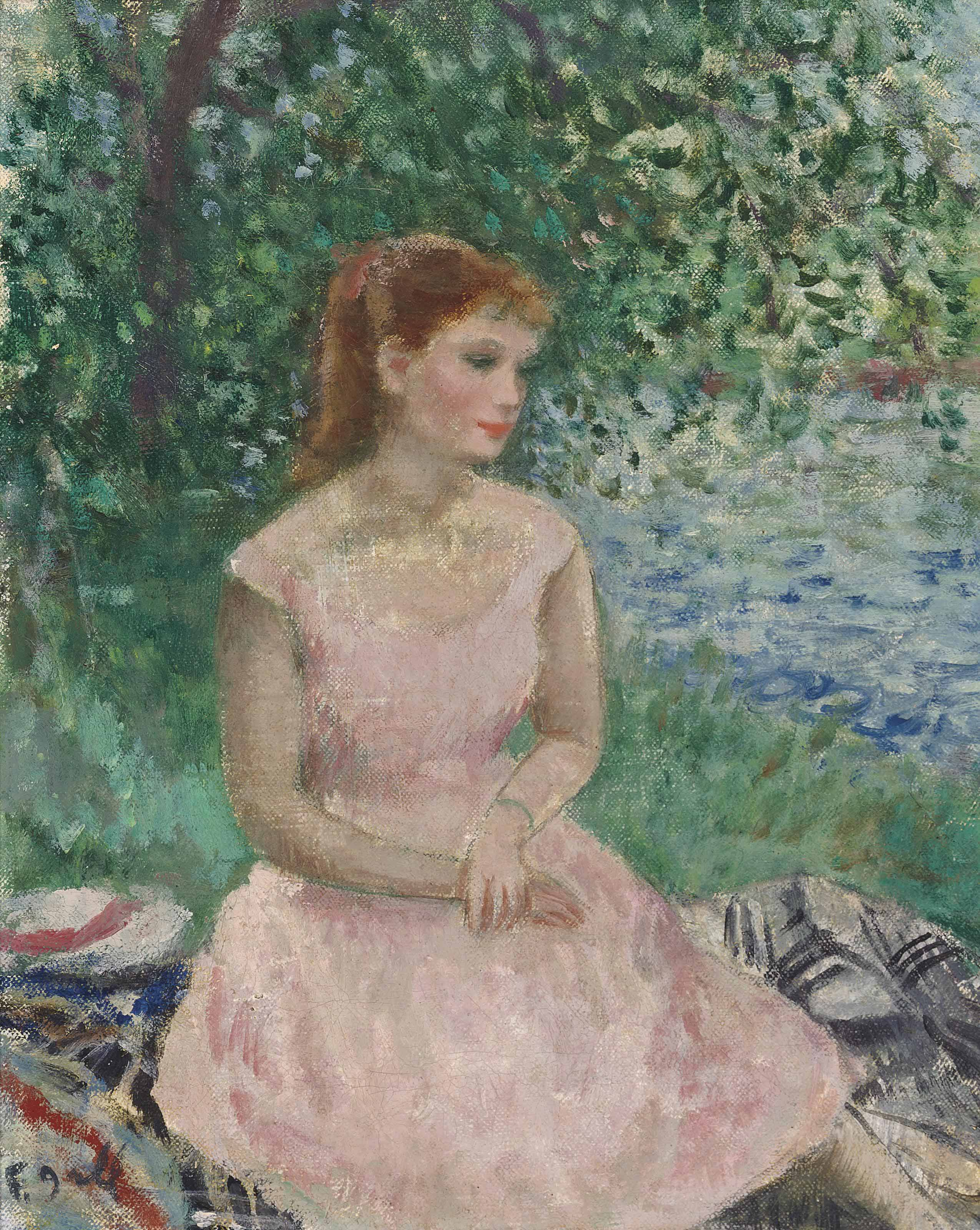 Fran 231 Ois Gall 1912 1987 Jeune Femme Rousse Assise En