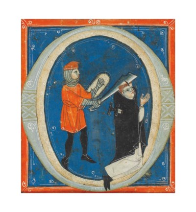 ST PETER MARTYR, historiated i