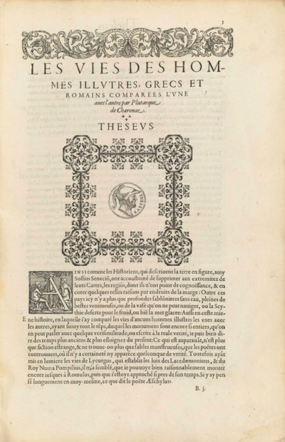 PLUTARCH (?46-120). Les vies d