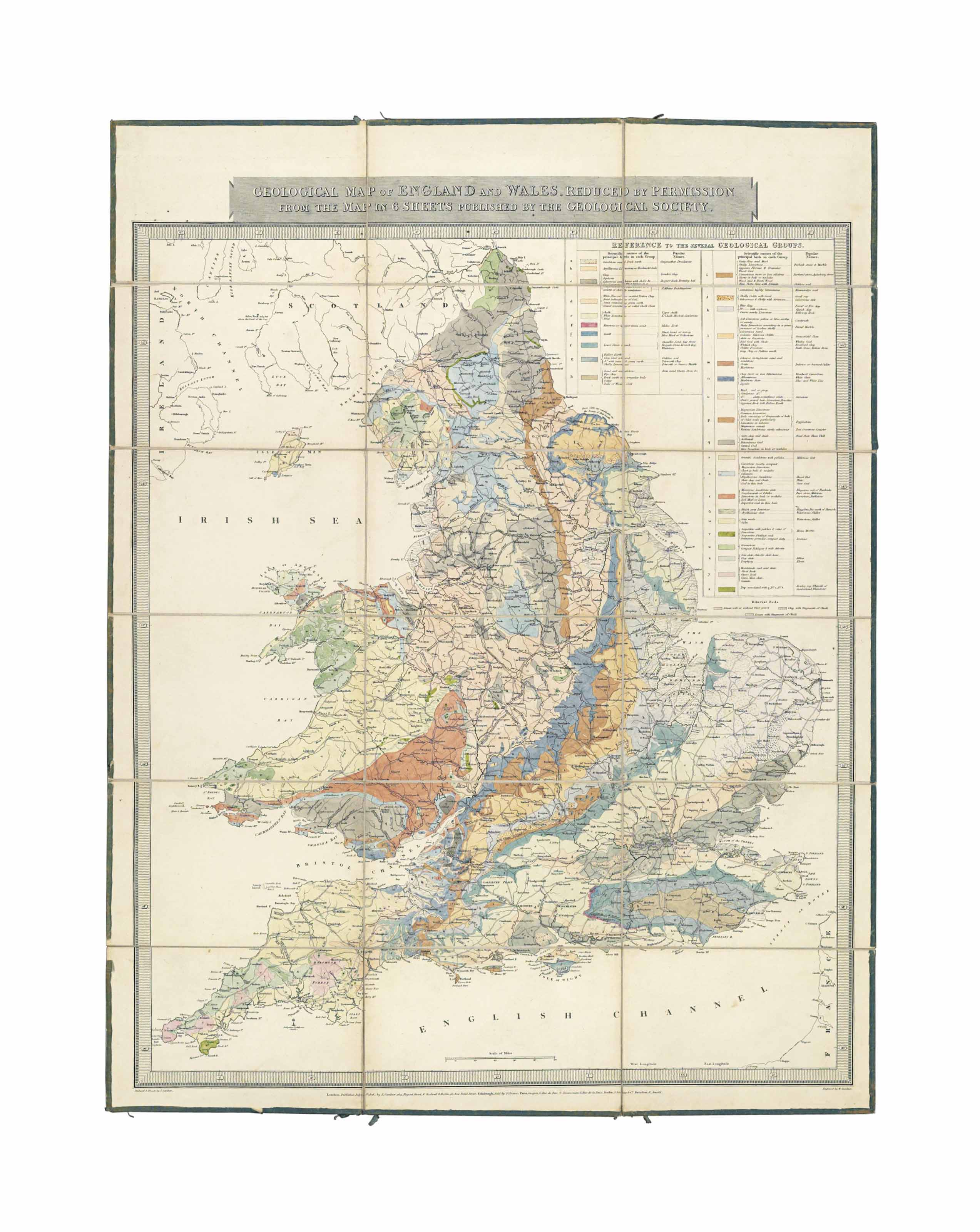 GREENOUGH, George Bellas (1778-1855).] Geological map of ... on blank map of britain, political map of britain, physical map of britain,