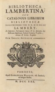LAMBERT DE THORIGNY, Nicholas