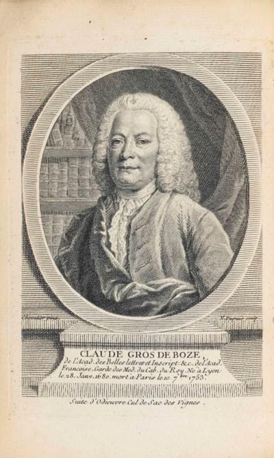 BOZE, Claude Gros de (1680-175