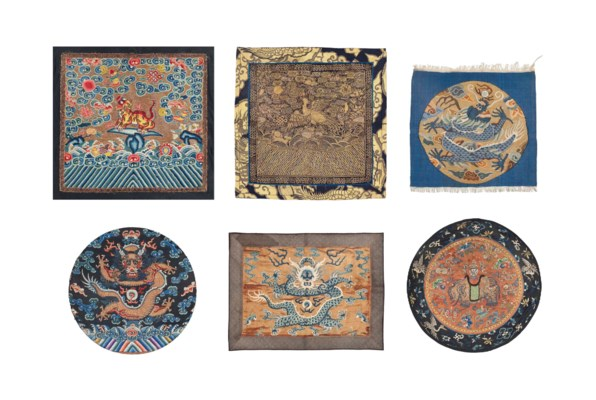A GROUP OF SIX TEXTILES
