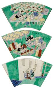 A SET OF EIGHT FAMILLE VERTE M