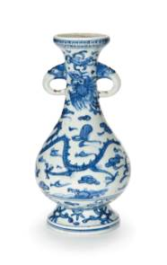 A BLUE AND WHITE 'DRAGON AND P
