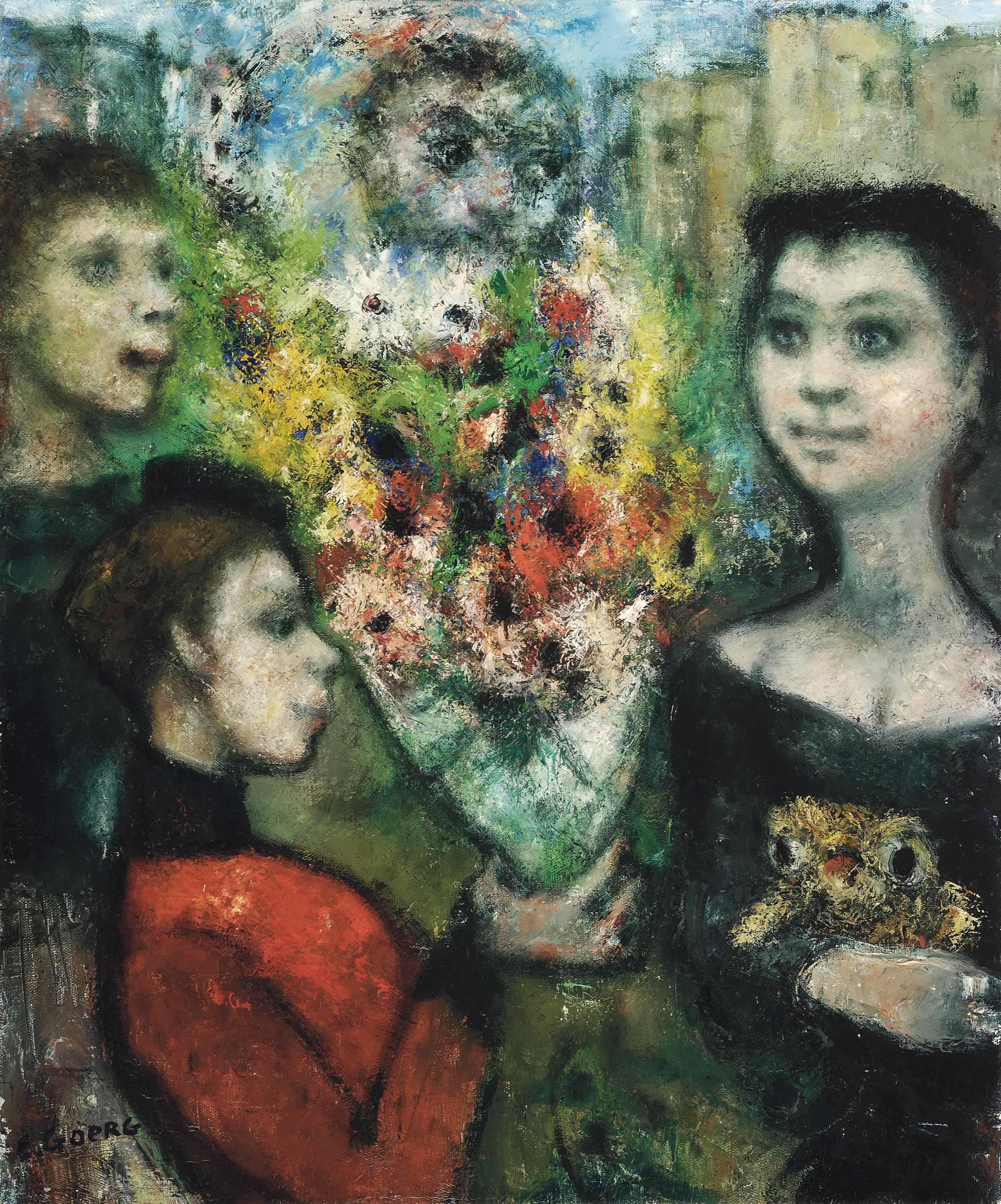 Les jeunes veuves reçoivent des fleurs