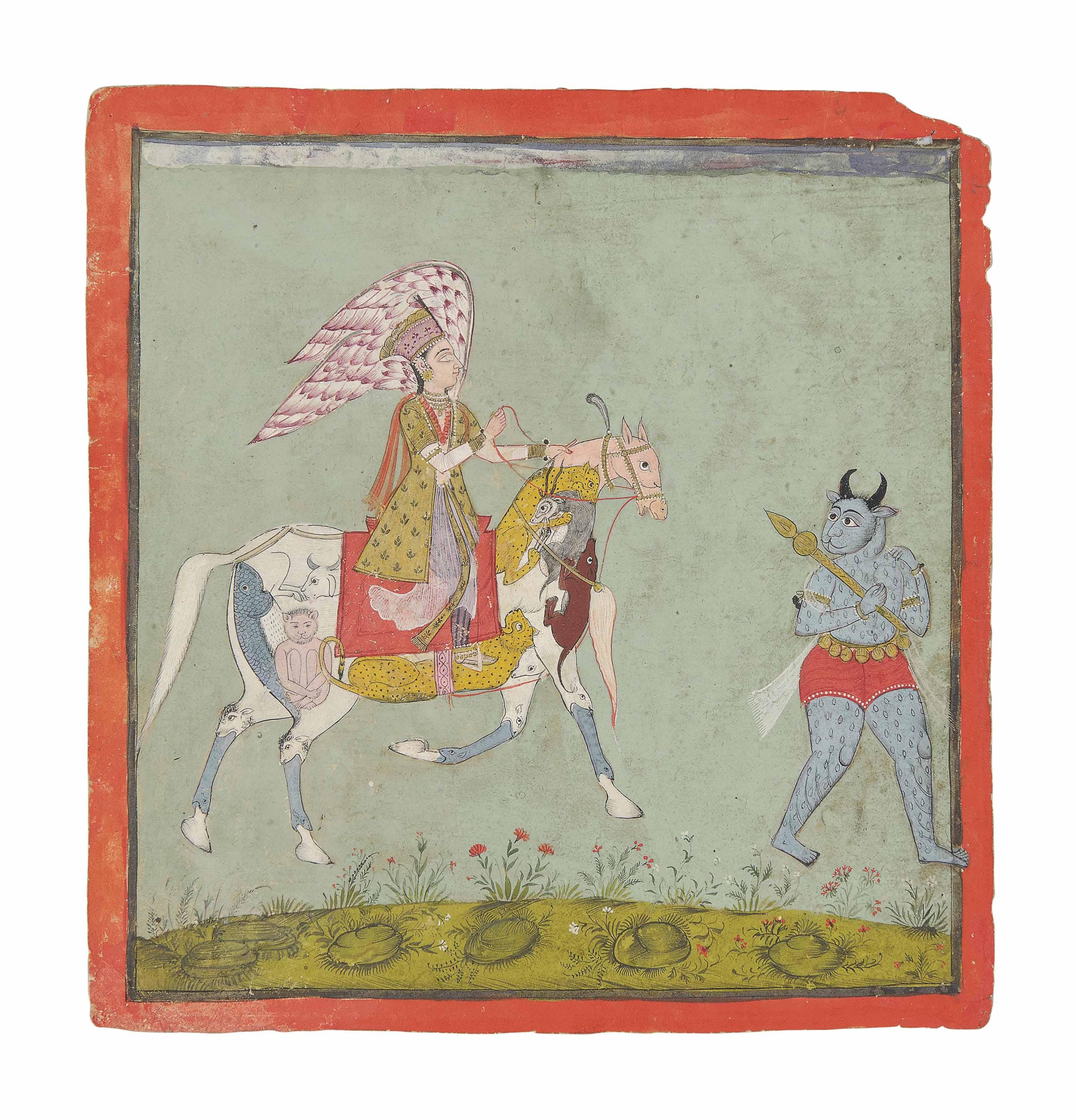 A PERI RIDING A COMPOSITE HORS