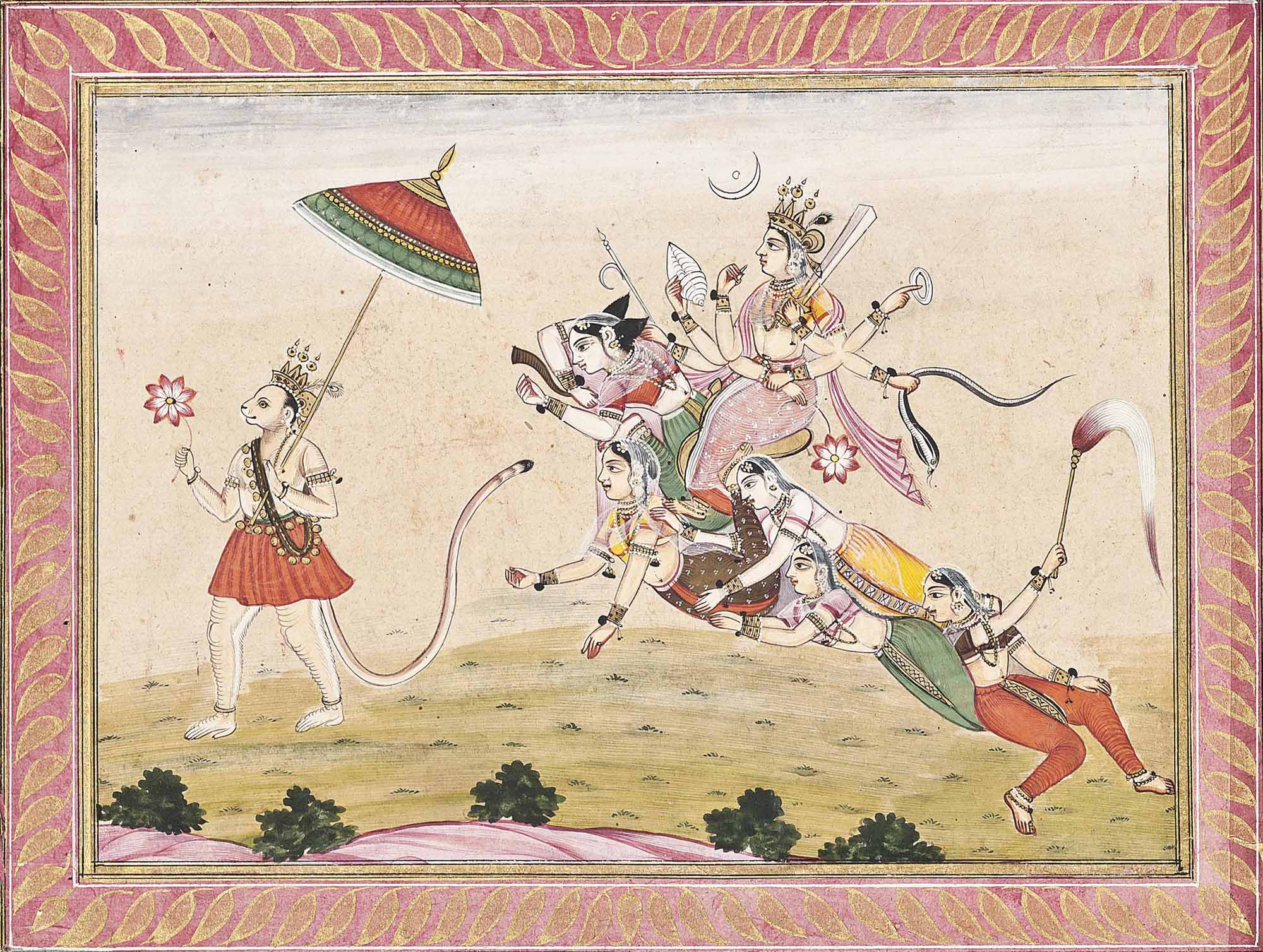 DURGA RIDING A COMPOSITE TIGER