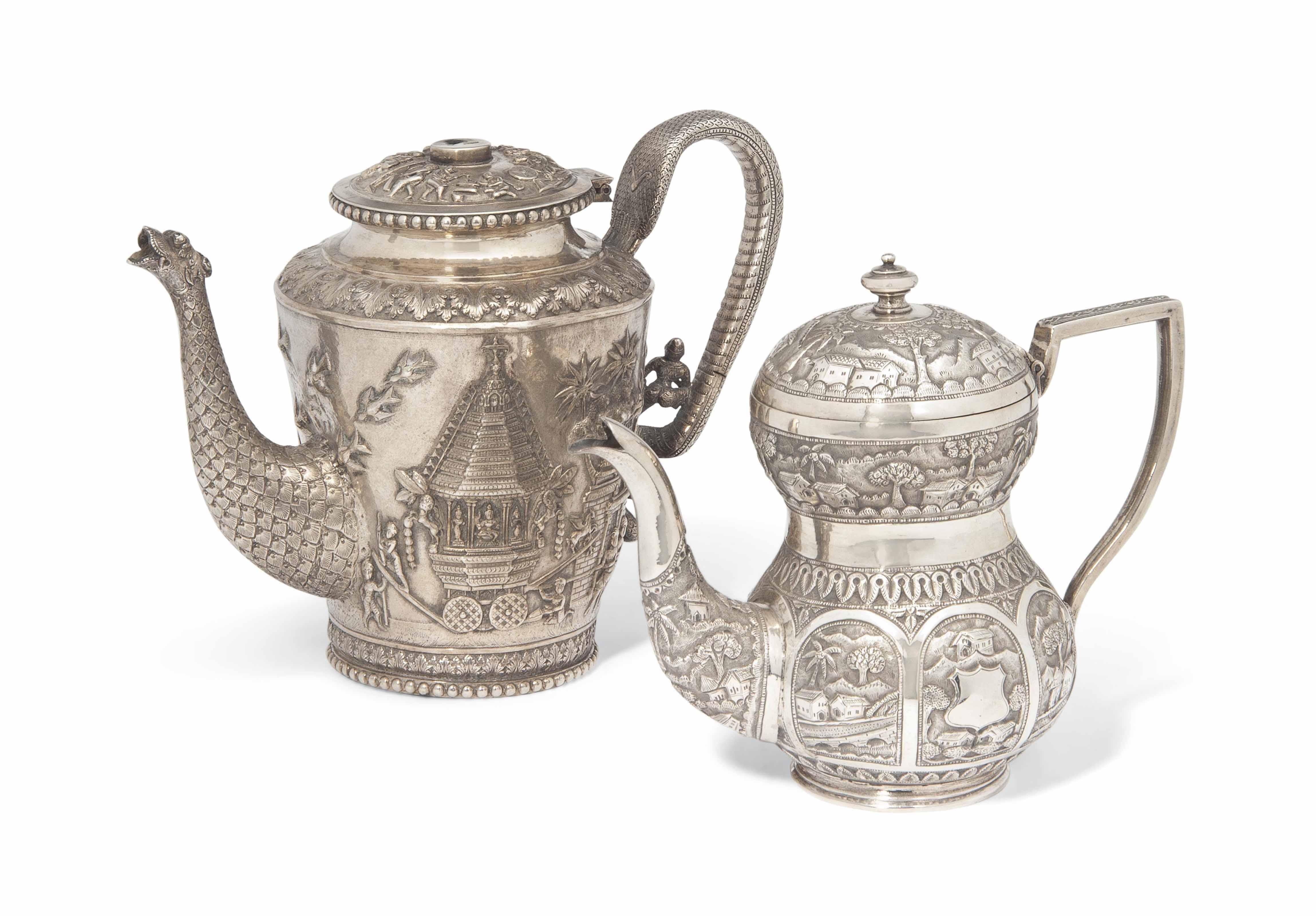 A BOMBAY THREE-PIECE TEA SET A