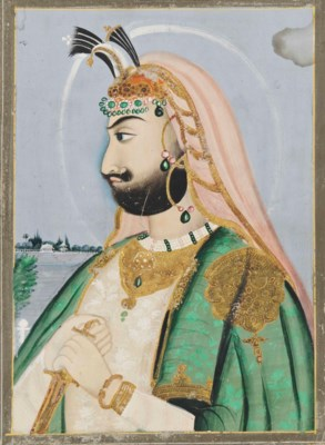 A PORTRAIT OF MAHARAJA SHER SI