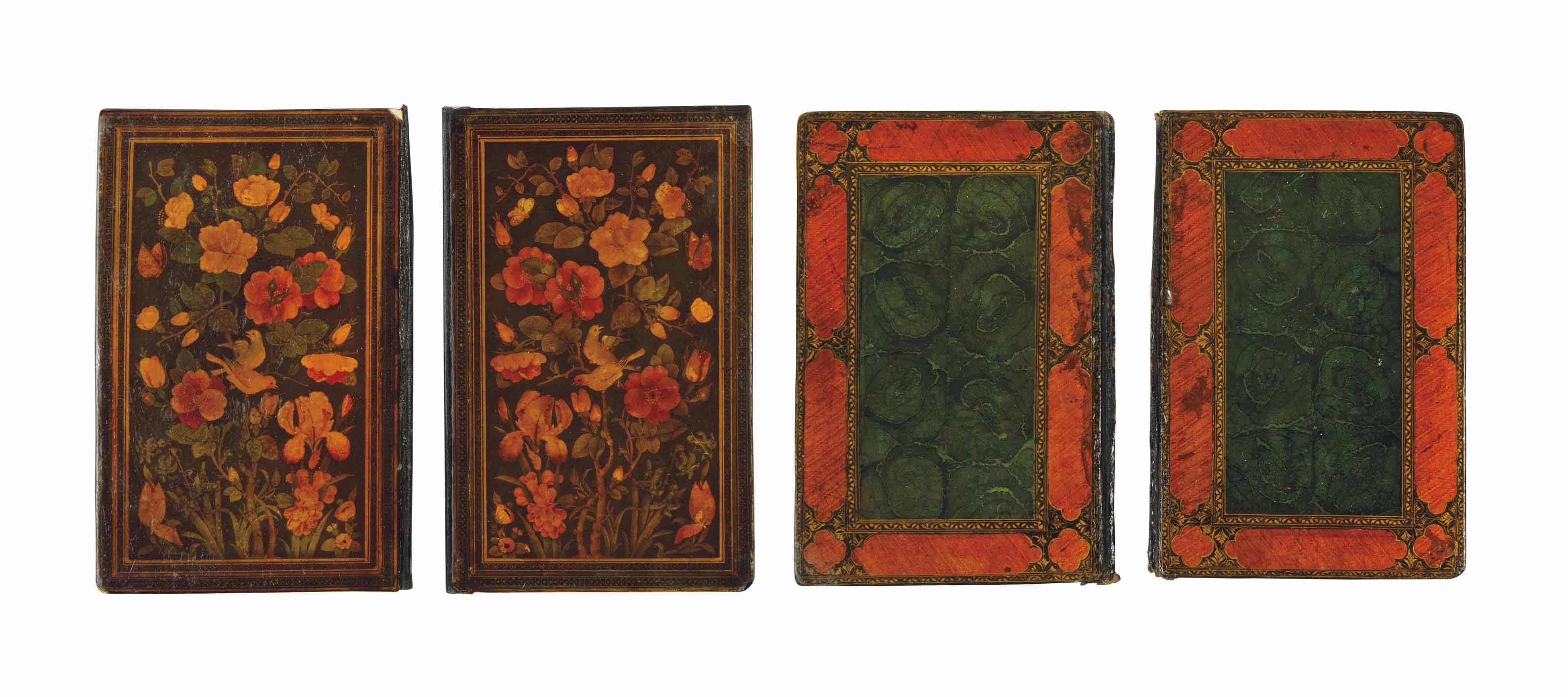 TWO QAJAR LACQUER BOOK BINDING