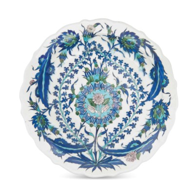 A LARGE IZNIK-STYLE DISH AFTER