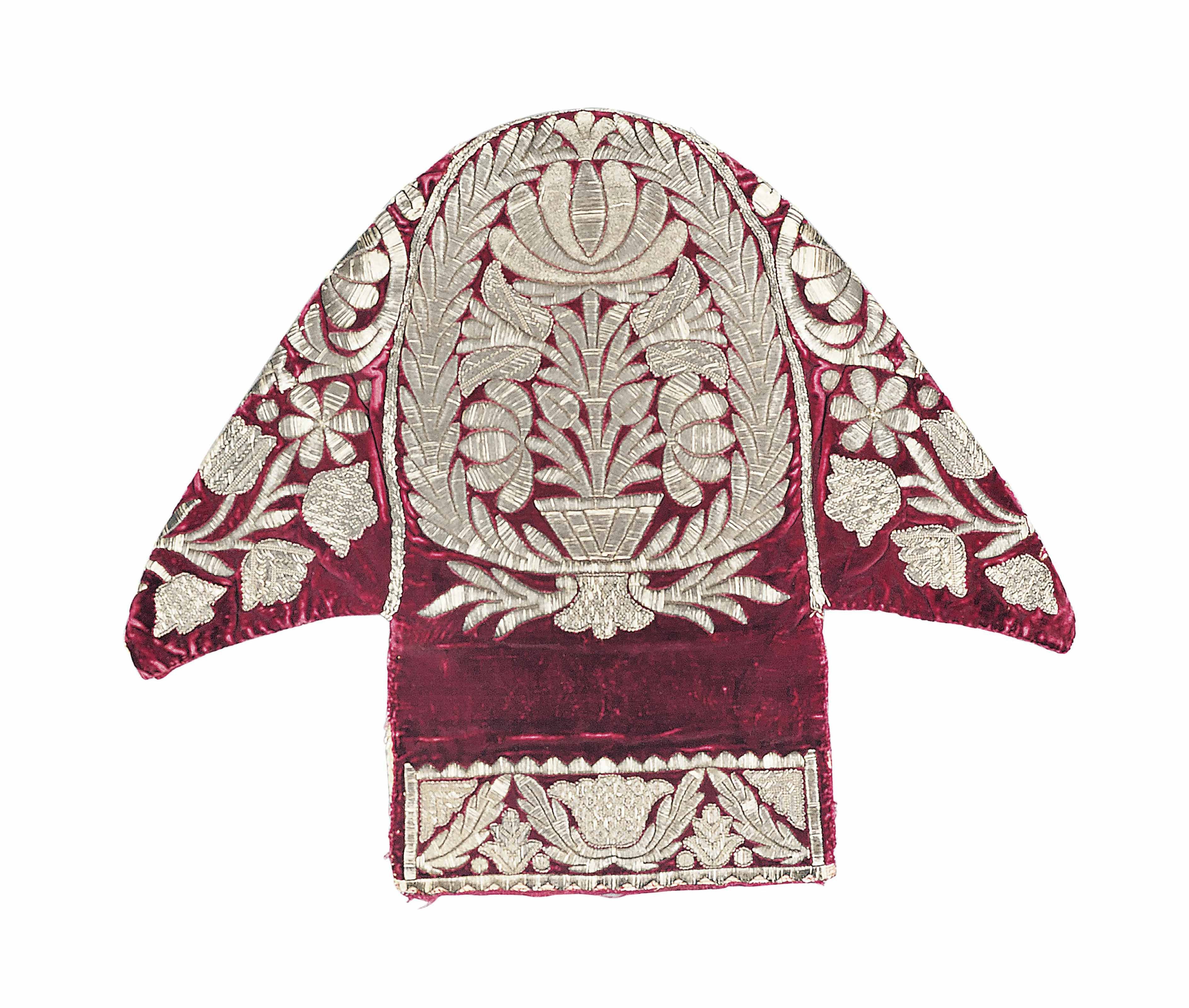 A SILVER-EMBROIDERED VELVET HE