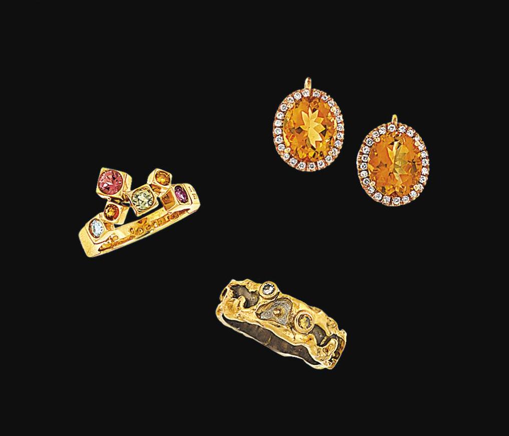 A small group of gem-set jewel