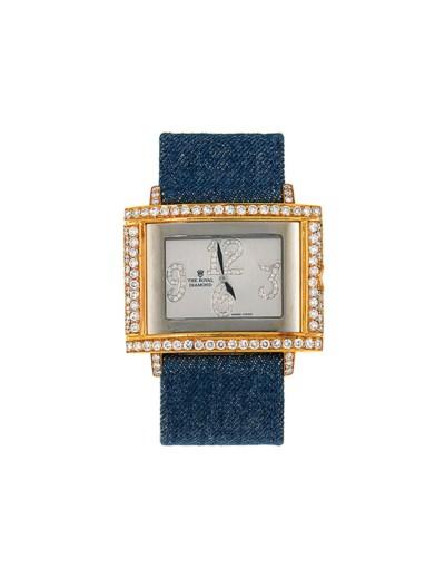 A diamond-set quartz wristwatc