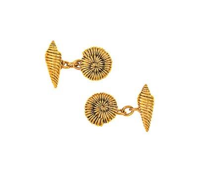 A pair of cufflinks, by Tiffan
