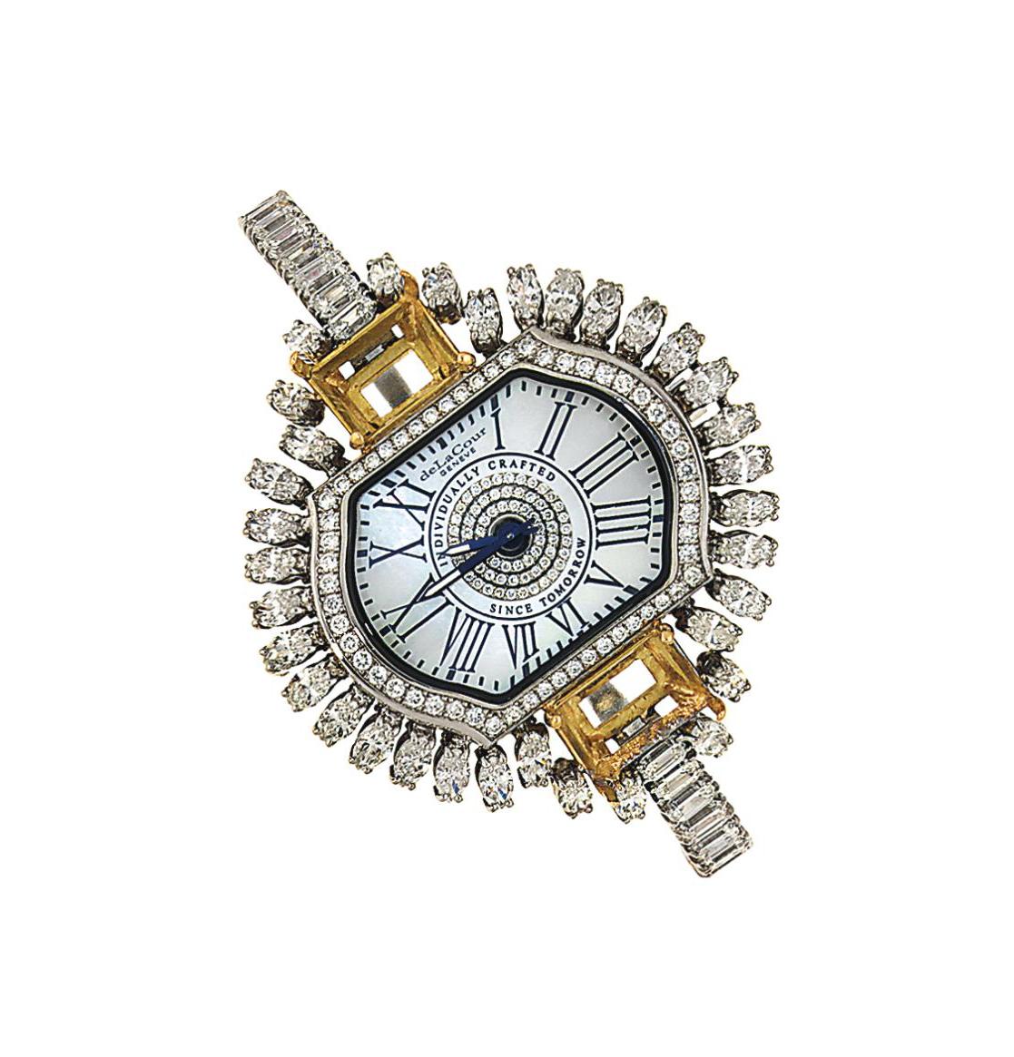 An 18ct white gold diamond-set