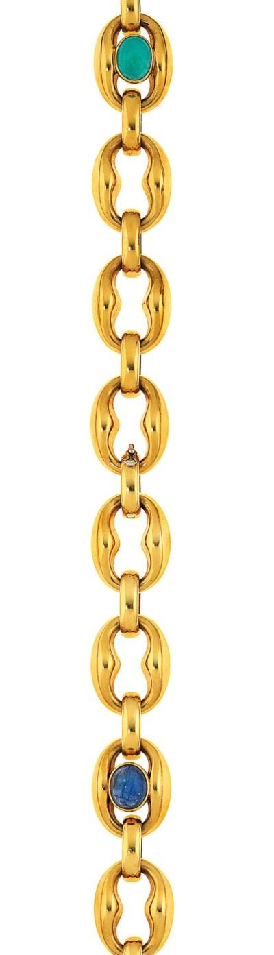 A set of five gem-set bracelet