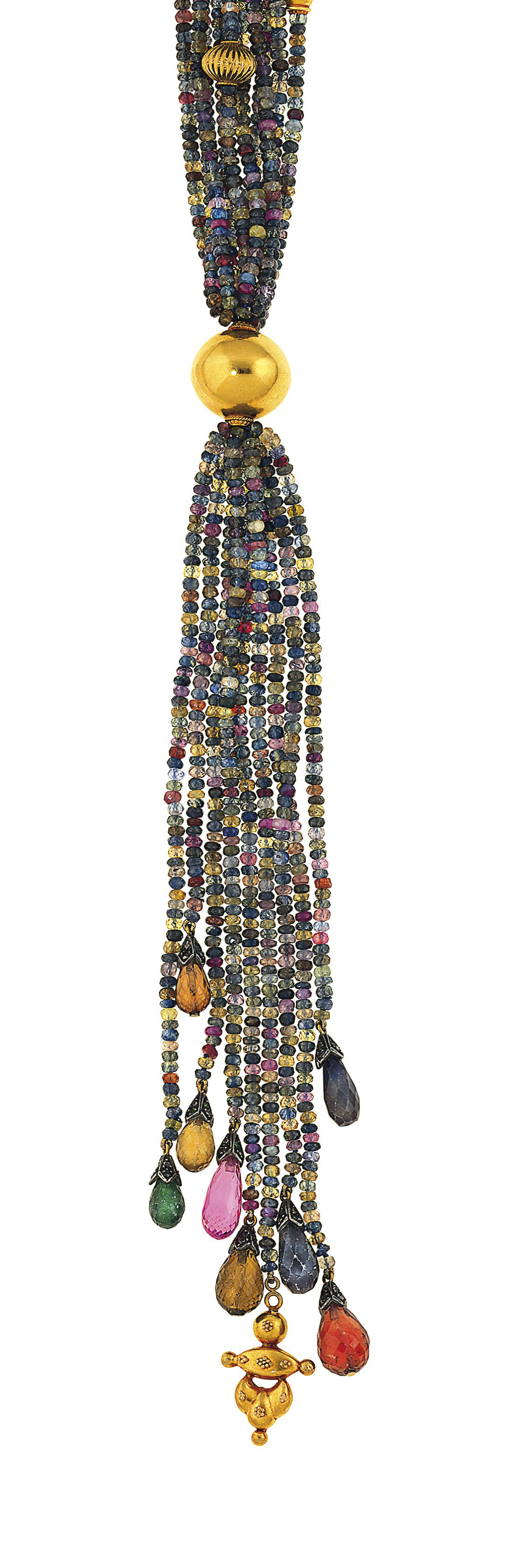 A vari-coloured sapphire sauto