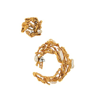 A suite of 18ct gold, diamond