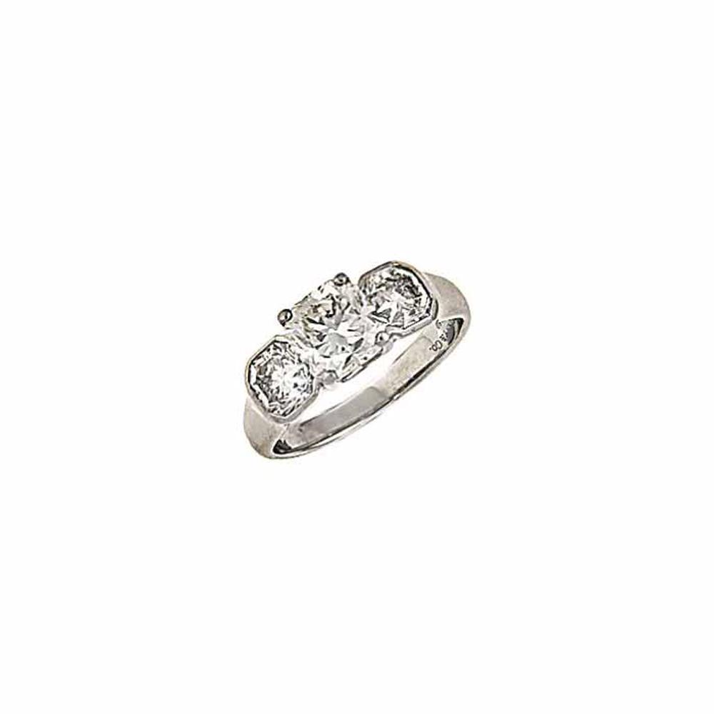 A diamond 'Lucida' three-stone