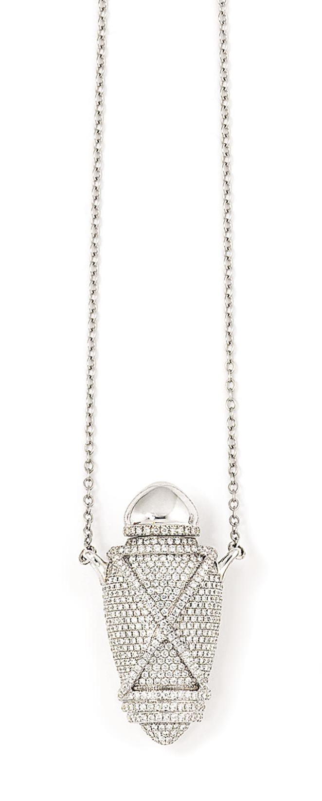 3831df09954fc6 An 18ct white gold diamond-set 'Ampoule' pendant, by Theo Fennell ...