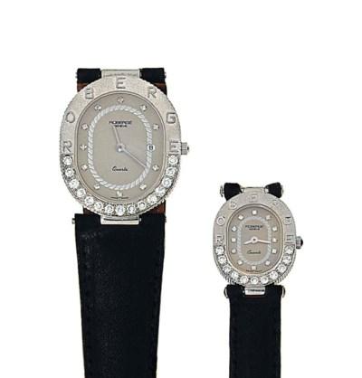 Two diamond-set quartz wristwa