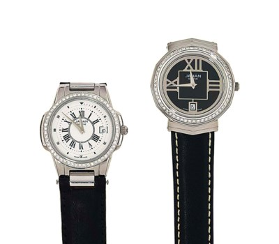 Two stainless steel diamond-se