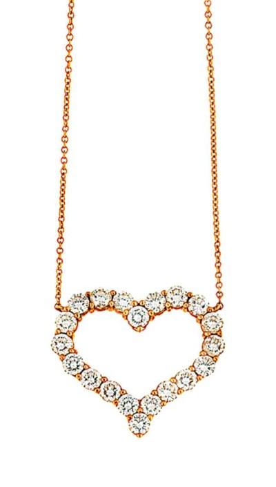 A diamond pendant, by Tiffany
