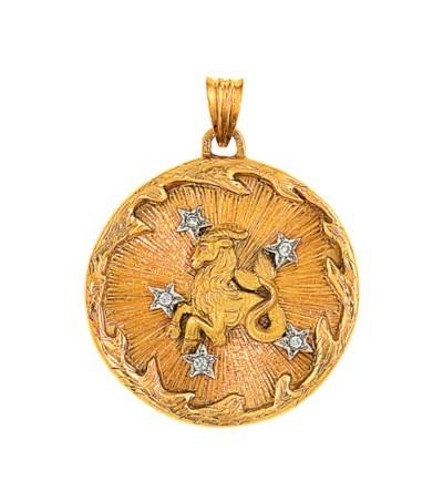 A zodiac pendant
