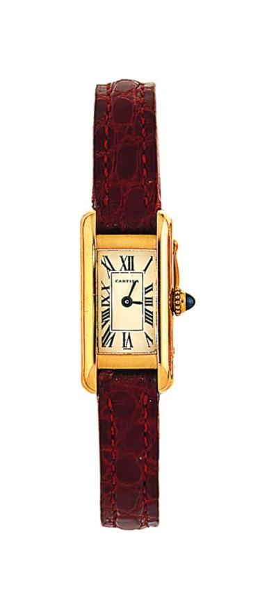 A quartz 'Tank' wristwatch, by