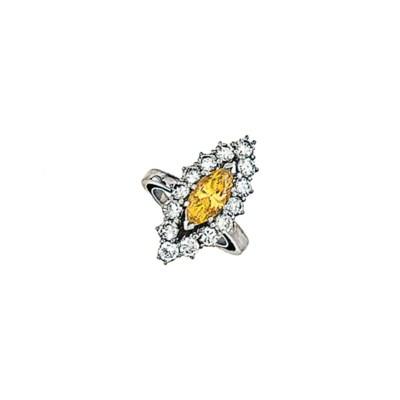 A treated coloured diamond and