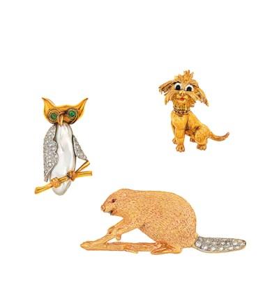 Three diamond and gem animal b