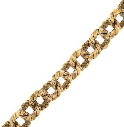 A fancy-link bracelet, by Bulg