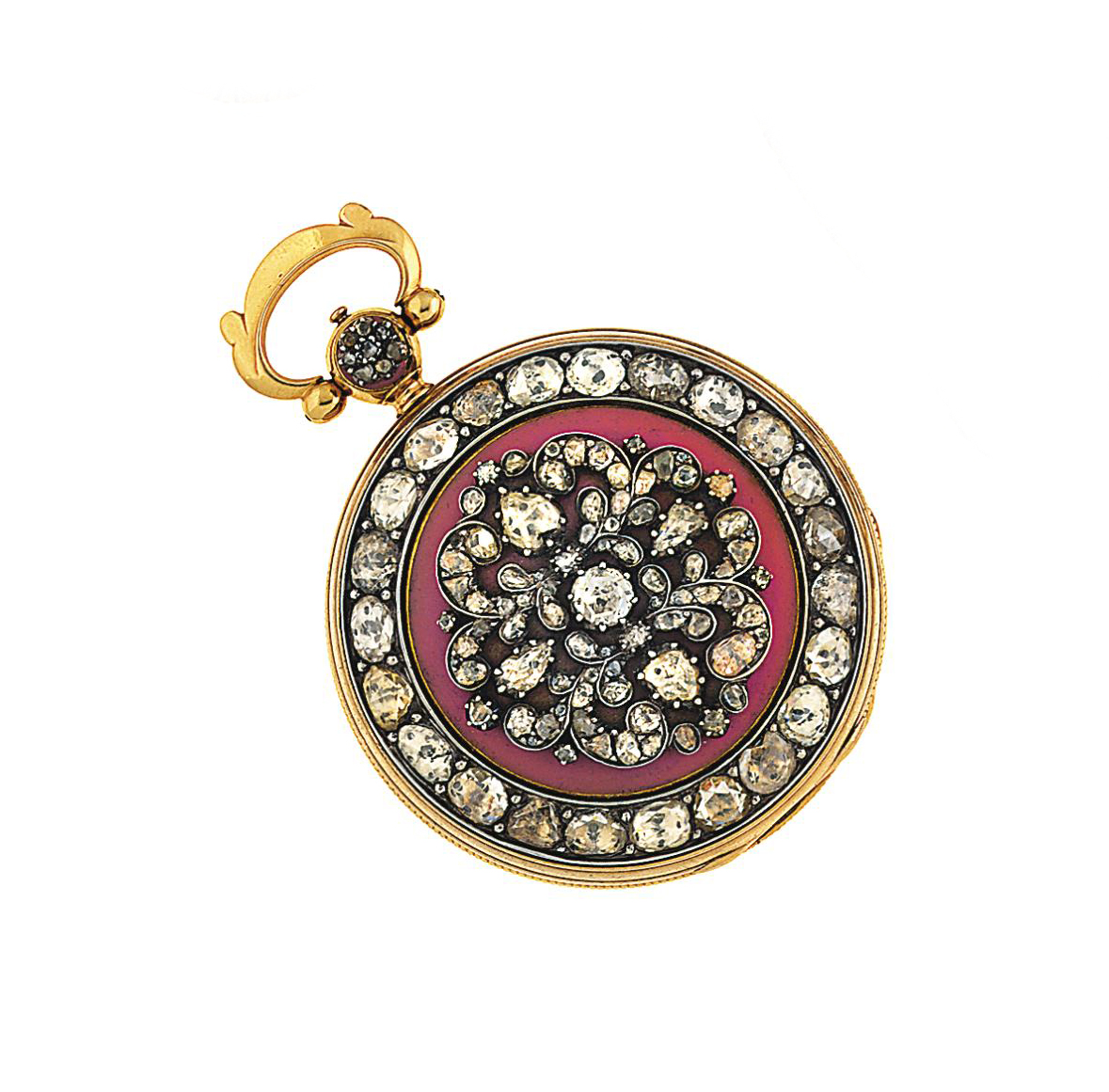 An early 19th century gold, diamond and enamel hunter case pocket watch, by James McCabe