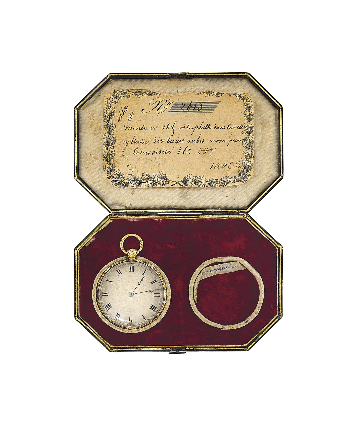 An early 19th century gold open face pocket watch, by Courvoisier & Co