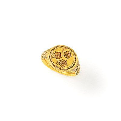 A 16th century gold signet rin