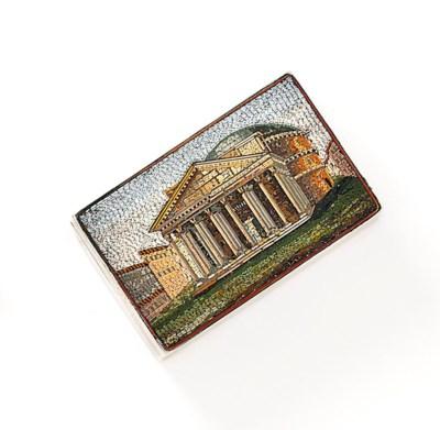 A 19th century micromosaic box