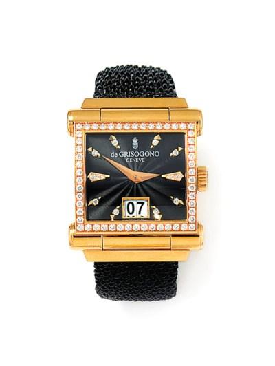 An 18ct pink gold diamond-set