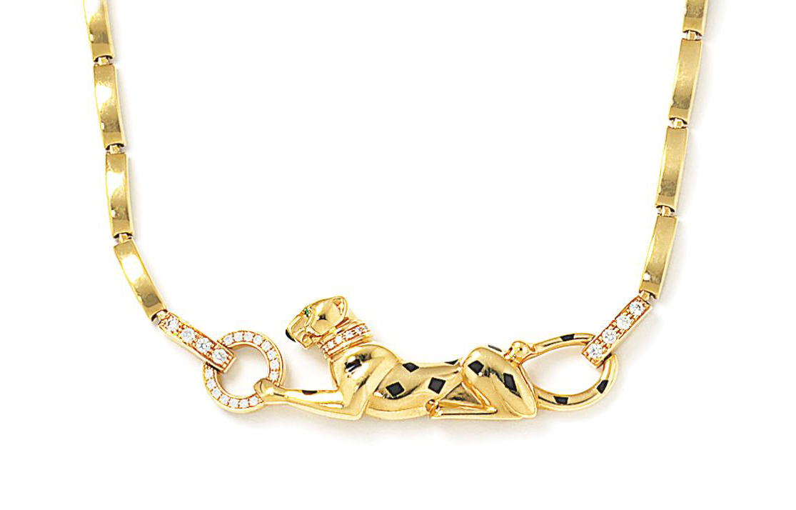 A diamond-set 'Panther' necklace, by Cartier