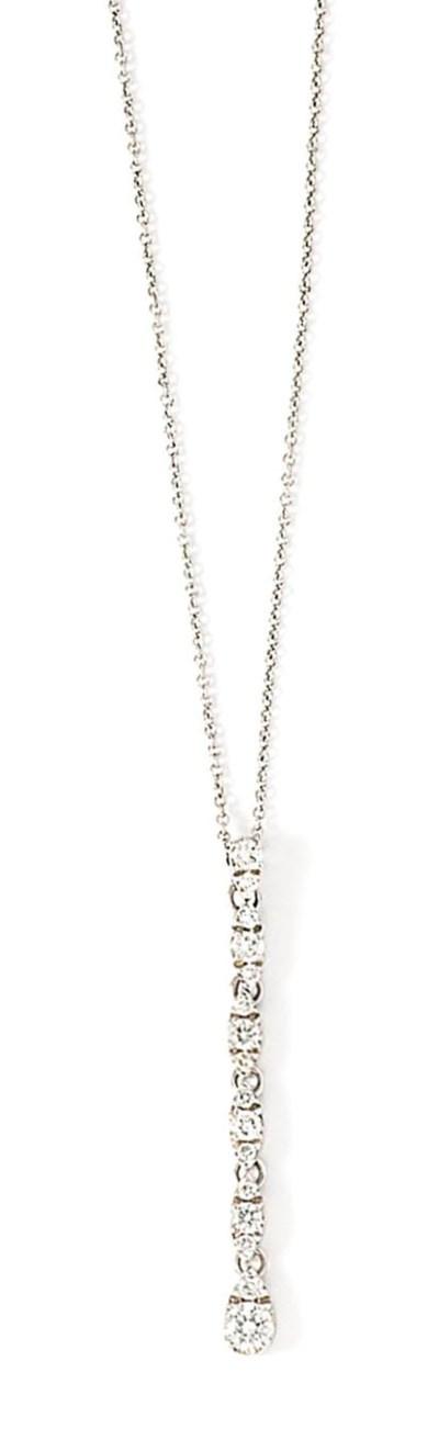 A diamond-set pendant necklace