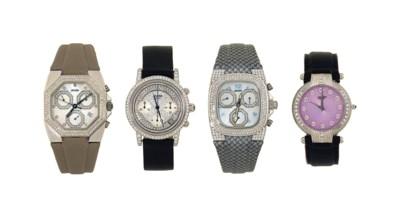 Four diamond-set quartz wristw