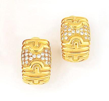 A pair of diamond-set 'Parente